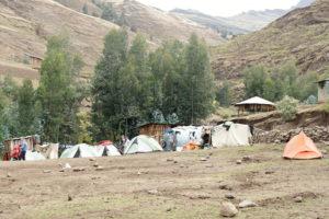 12.Camp Ambikwa – miesto odkiaľ sa vyráža na vrchol najvyššej hory Etiópie – Rash Dashen 4550 m.n.m