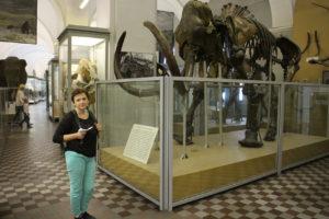 Dve prehistorické príšery (autorom tohto popisu fotografie je dvojnohý objekt v modrých nohaviciach)