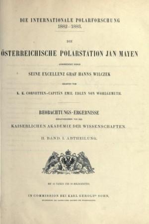 Publikácia Cisárskej akadémie vied o rakúsko-uhorskej polárnej expedícii na ostrov Jan Mayen (1882/83)