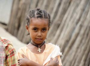 3.Dievčatko z Lalibely nachádzajúcej sa v kresťanskej časti Etiópie