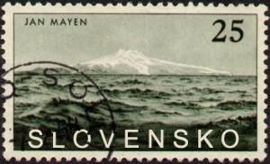 Známy grafik  a autor výtvarných návrhov slovenských poštových známok Štefan Bršlic – Nedomrlý v predstihu vytvoril návrh 25 centovej známky, ktorú by Slovenská pošta mala vydať pri príležitosti anexie ostrova Jan Mayen.
