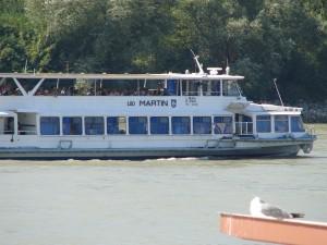 Jedna z mála zachovaných fotografií lode Martin z čias, keď ešte plnila svoju výletnú funkciu.