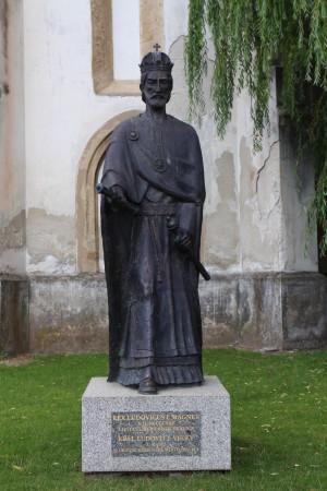 Pamätník kráľa Ľudovíta I. Veľkého, ktorý Skalici udelil práva slobodného kráľovského mesta